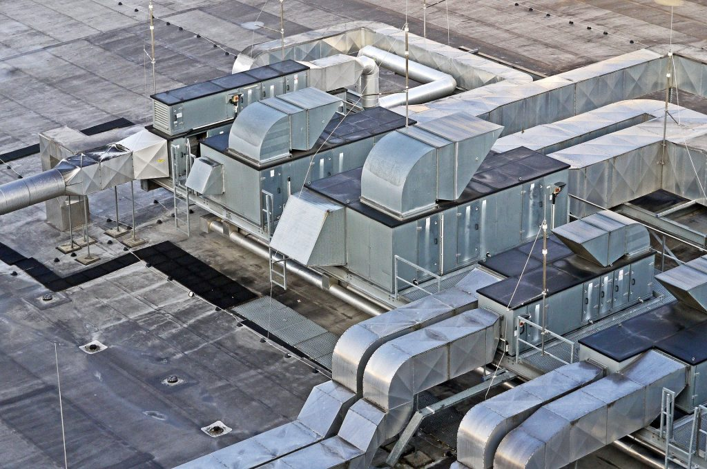 An aerial photograph of ducts.